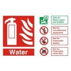 Fire Extinguisher Water ID Sign (150mm x 200mm)