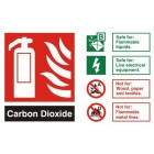 Fire Extinguisher Carbon Dioxide CO2 ID Sign (100mm x 150mm)