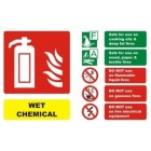 Fire Extinguisher Wet Chemical ID Sign (150mm x 100mm)