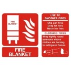 Fire Blanket ID Sign (150mm x 100mm)