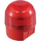 Klaxon Sonos Sounder LED Beacon, Deep Base, Red Body, Red Lens 17-60v - PSC-0013 (18-980501)