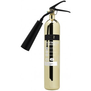 2Kg CO2 Commander Contempo Polished Gold Extinguisher COEX2PG
