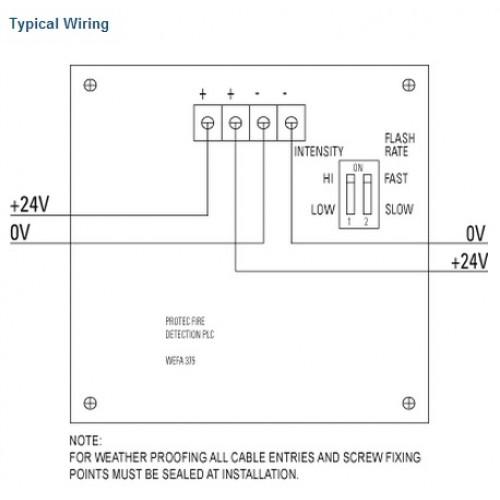 protec 3000 led high intensity flashing beacon rh acornfiresecurity com 120V LED Wiring Diagram LED Light Fixture Wiring Diagram