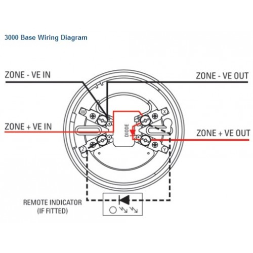 3000 OP 2 500x500 3000 op optical smoke detector menvier smoke detector wiring diagram at virtualis.co