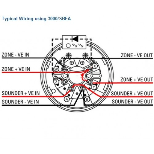 3000 SBEA 2 500x500 3000 sbea sounder beacon detector base menvier smoke detector wiring diagram at virtualis.co