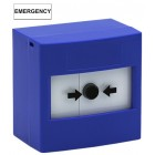 STI RP-BS-02 Single Pole Re-settable Blue Call Point with Emergency Label (308-227)
