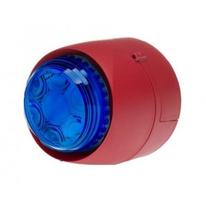 Cranford Controls VTB-32-DB-RB/BL Spatial Sounder Beacon 24v 32 Tone Red Body Blue Lens Deep Base