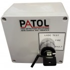 Patol Analogue EOL ABS Termination Box with Fire & Fault Test Key Switch