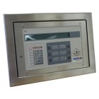 Morley IAS Stainless Steel Semi-Flush Active Repeater Panel for DXc & ZXSe Panels