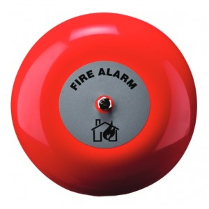 Klaxon 8 Inch Weatherproof Fire Alarm Bell in Red 24v - TAA-0020 (18-980854)
