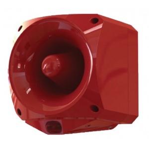 Ziton Multi Tone High Output IP66 Red Flash Sounder VAD Beacon - ASW377
