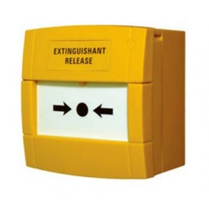 C-Tec KAC Yellow 'Extinguishant Release' Surface Call Point - BF372