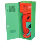 Baldwin Boxall Omnicare Type A Green Emergency Steward Telephone with Lock Door BVOCETL