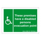 Baldwin Boxall Self-adhesive Vinyl Disabled Refuge Premises Sign BVOCLAB2