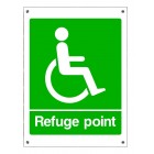 Baldwin Boxall Weatherproof Aluminium Refuge Point Sign BVOCLAB5