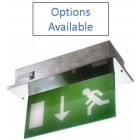 Advanced Lux Intelligent Blade-Lite Recessed 8W Maintained Addressable Exit Sign