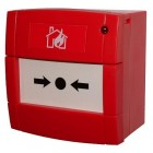 Hochiki Conventional Call Point with LED and red back box (CCP-E(LED))