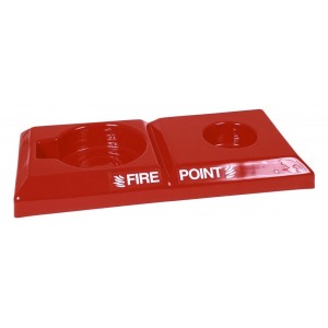 Commander Double Fire Point Stand with Co2 Extinguisher Space - CS18