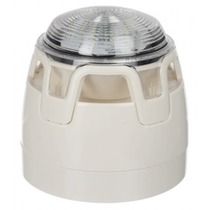 Gent Sounder VAD Beacon White Base with White Flash - CWSS-WW-S5