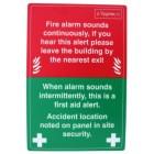 Cygnus CYGFAS Fire Action Notice Sign