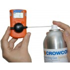 Crowcon 12L Spray Bump Gas Cylinder with Push Button and Straw