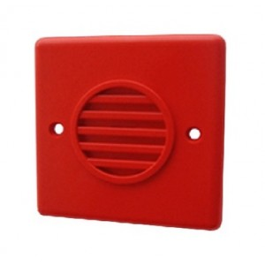 Klaxon Red Compact Sounder, Flush Mount, 10-30v DC - PSS-0033 (18-980455)