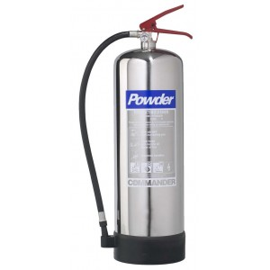 9Kg Commander Contempo Dry Powder Stainless Steel Extinguisher - DPEX9SS