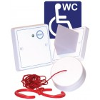 Baldwin Boxall 3-part White Disabled Toilet Alarm Kit DTAKIT