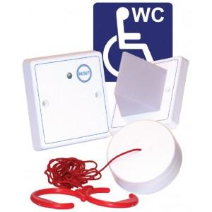 Baldwin Boxall 3-part White Disabled Toilet Alarm Kit DTAKIT