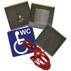 Baldwin Boxall 3-part Stainless Steel Disabled Toilet Alarm Kit DTASKIT