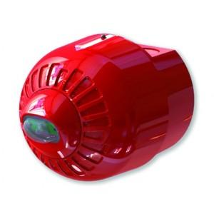 Klaxon Sonos Pulse Ceiling VAD Beacon, Deep Base, Red Body, White Flash - ESB-5007