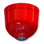Klaxon Sonos Pulse Ceiling VAD Beacon, Shallow Base, Red Body, White Flash - ESB-5008
