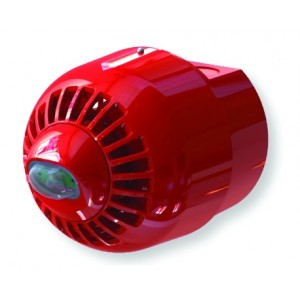 Klaxon Sonos Pulse Wall Sounder VAD Beacon, Deep Base, Red Body, White Flash - ESC-5003