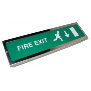 Esd 8w Slim Single Sided Designer Exit Sign With Ip20