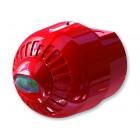 Klaxon Sonos Pulse Ceiling VAD Beacon, Deep Base, Red Body, Red Flash - ESD-5007