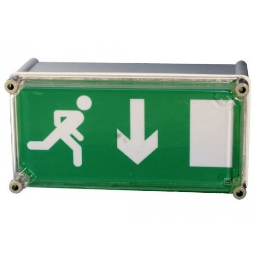 Wall Mounted Exit Lights : ESW 8W High Frequency Weatherproof Wall Mounted Exit Sign with 230v Mains IP65