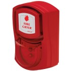 Vimpex Wall Mounted Red Fire-Cryer Solo with Deep Base and Red Beacon