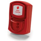 Vimpex Wall Mounted Red Fire-Cryer Solo with Shallow Base and Red Beacon