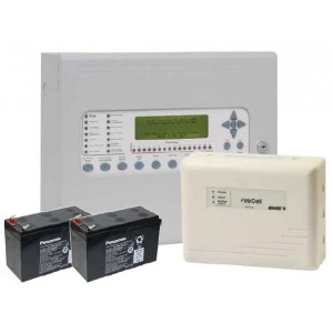 EMS Syncro AS 1 Loop 16 Zone Analogue Addressable Fire Panel with Radio Hub (Non Expandable)