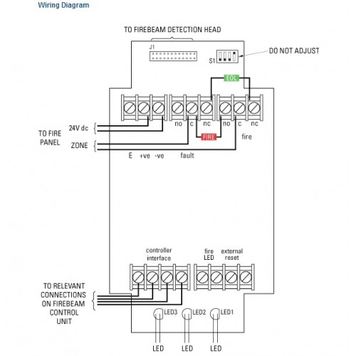 FM49 2 500x500 3000 firebeam40 optical beam smoke detector menvier smoke detector wiring diagram at bakdesigns.co