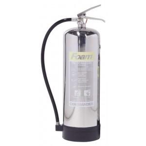 9 Litre Commander Contempo Foam Stainless Steel Extinguisher - FSEX9SS
