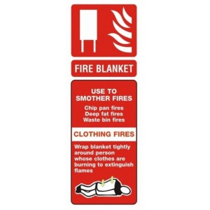 Fire Blanket ID Sign (75mm x 200mm)