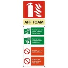 Fire Extinguisher Foam ID Sign (75mm x 200mm)