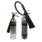 2KG CO2 New Polished Aluminium Extinguisher - 2CPX