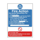 "Fire Action Notice ""Do Not Take Risks"" – Photoluminescent (150mm x 200mm) FAN4P"