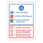 "Fire Action Notice ""Do Not Use Lift"" - Rigid (30mm x 200mm) - FAN5R"