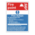 "Fire Action Notice ""Fire Point"" – Photoluminescent (150mm x 200mm) FAN3P"
