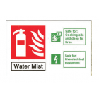 1L Water Mist ID Sign Landscape - Rigid (100mm x 150mm) - 1WMLR