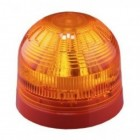 Klaxon Sonos High Power 5J Xenon Beacon, Red Shallow Base, Amber Lens 10-60v (PSB-0060)
