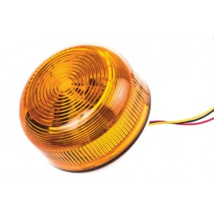 Klaxon 2W Xenon Flashguard Beacon with Amber Lens Surface Mount Ultra Low Profile 12/24v DC - QBS-0044